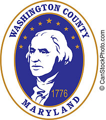 Washington county seal - Various vector flags, state...