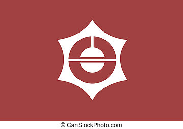 Taitou ku flag - Various vector flags, state symbols,...
