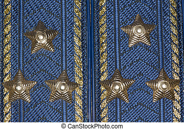 Colonel epaulets of Airforce closeup