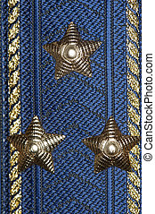 Colonel epaulet of Airforce closeup