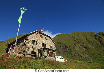Mountain Cabin - Authentic Mountain Wooden Cabin Hut in Alps