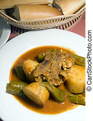 stewed lamb with vegetables Tunis Tunisia - stewed lamb with...