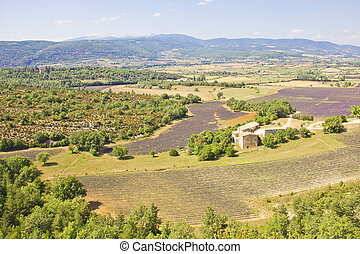 Aerial view of Provence, France