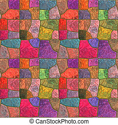 Stained glass - Square piece of colored seamless material...
