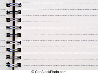 Blank one face white paper notebook horizontal