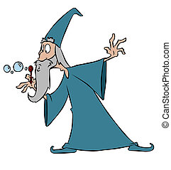 Bubble Wizard - A wizard making good use of his magic wand
