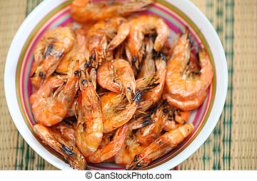 Grilled shrimp - Gourmet Grilled shrimp with original stove...
