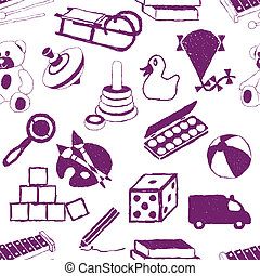 doodle toys seamless pattern