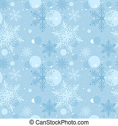 Seamless Christmas Pattern - Repetitive Illustration, Vector