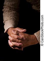 Praying - A shot of a praying senior man