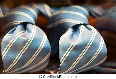 Ties - Photo of italian striped ties in the shop