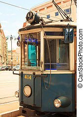 Tramway, Trieste to Opicina - View of the tram, Tramway -...