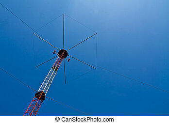 Navigation Beacon for Flight - a navigation tower at a local...