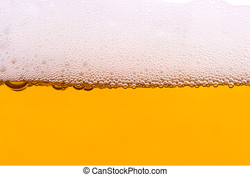 Background from fresh foamy beer. - Background from fresh...