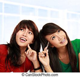 denken, asiatisch, weibliche