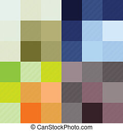 Checkered pattern four color options