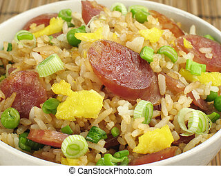 Fried Rice and Sausage