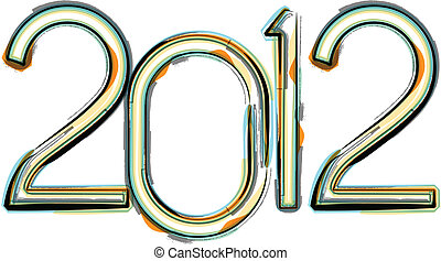 Abstract New year 2012 Background