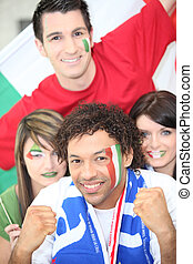 Italy supporters