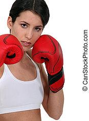 niña, boxeo