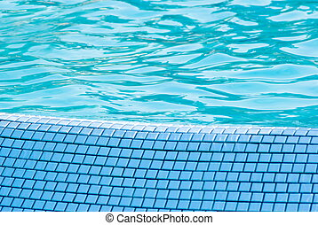 Water in a swimming pool