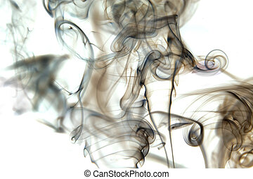 abstract cloud of smoke - huge abstract cloud of grey and...