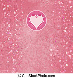 Heart of polka dot paper And also includes EPS 8 vector