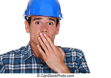 A terror-stricken tradesman