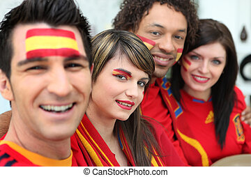 Spanish soccer supporters