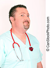 Humorous portrait of doctor