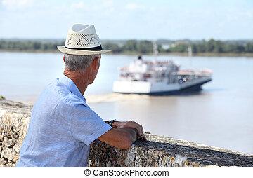 turista, Mirar, transbordador