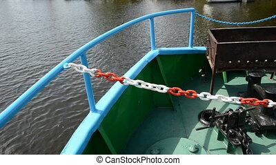 motor boat  chain and rail