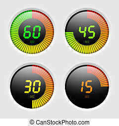 Digital timer vector illustration