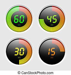 Digital timer vector illustration