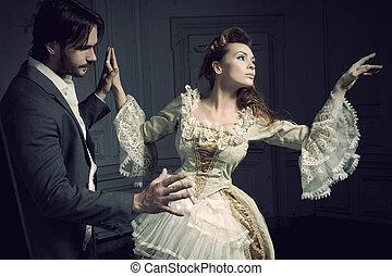 Dancing couples vintige