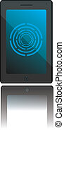 Digital tablet - Vector illustration of a digital tablet...