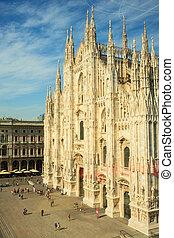 Duomo di milano - Milan cathedral - View of the Duomo di...