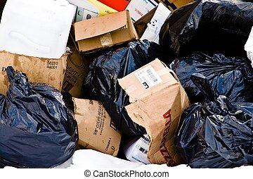 Um, pilha, Lixo, esperando