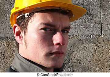 Close-up of builder