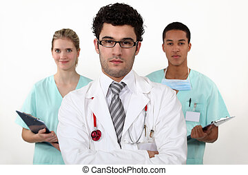 Doctor and interns