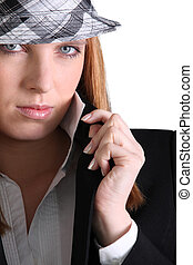 Portrait of a fashionable woman