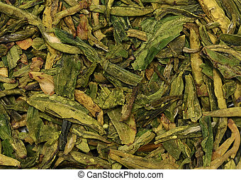 Scattered green tea texture
