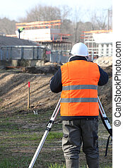 Surveyor on site