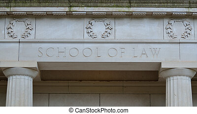 School of Law - facade of school of law building at a...