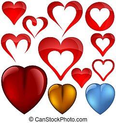 Heart icons II - set