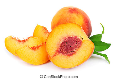 peach fruit  -  peach fruit isolated on white background