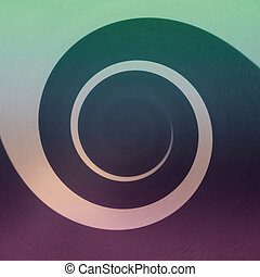 Abstract Spiral - Purple and Green - Abstract spiral of dark...