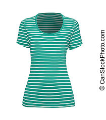 green and white striped t-shirt