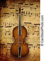 violín, nota, Plano de fondo