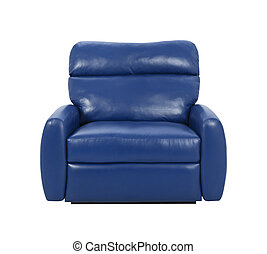 blue luxury armchair isolated
